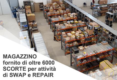 Gruppo-FOS_TeG_Repair-Center_Caserta_Telecomunicazioni_Magazzino_scorte